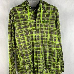 Under Armour Volt Green Plaid Jacket